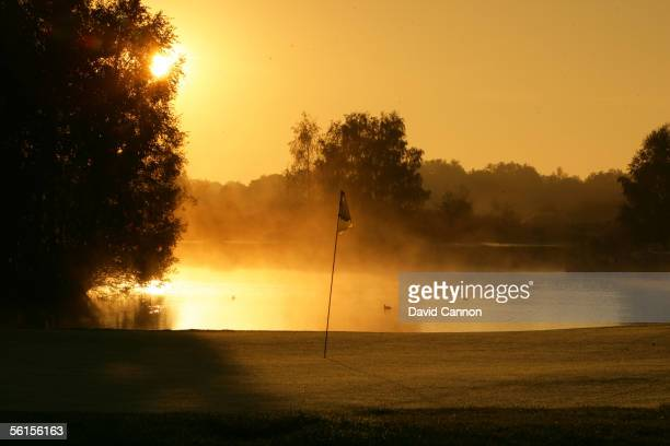 The green on the 185 yard par 3, 13th hole at Golf International Les Bordes, on October 09, 2005 Saint-Laurent-Nouan, France