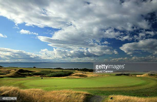 The green on the 18th hole on the Kittocks course at The Fairmont St Andrews Bay Golf Resort on July 30 2014 in St Andrews Scotland