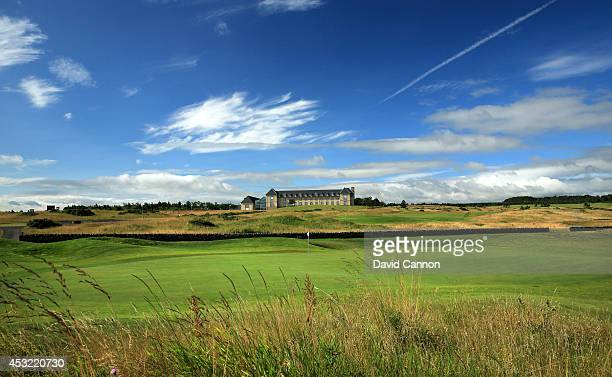 The green on the 18th hole on the Torrance Course at The Fairmont St Andrews Bay Golf Resort on July 30 2014 in St Andrews Scotland