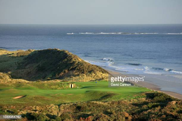 The green on the 382 yards par 4 fifth hole 'White Rocks' at Royal Portrush Golf Club the venue for The Open Championship 2019 on September 12 2018...