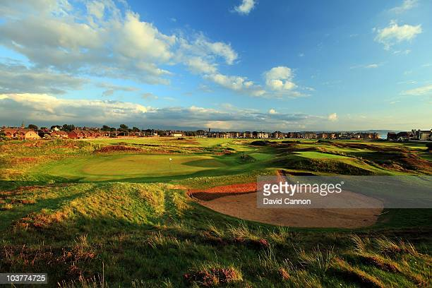 The green on the 391 yards par 4 17th hole 'Alps' at The Prestwick Golf Club on August 26 2010 in Prestwick Ayrshire Scotland