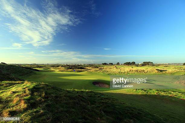 The green on the par 3 12th hole at Portmarnock Golf Club on October 19 2010 in Portmarnock Co Dublin Republic of Ireland