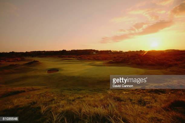 The green on the par 4 12th hole on the Royal Troon Golf Course on April 29 2004 in Troon Scotland