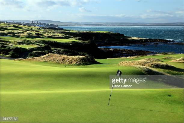 The green on the par 4, 16th hole with the par 3, 17th hole and par 5, 18th hole behind on the Castle Course at St Andrews on October 3, 2009 in St...