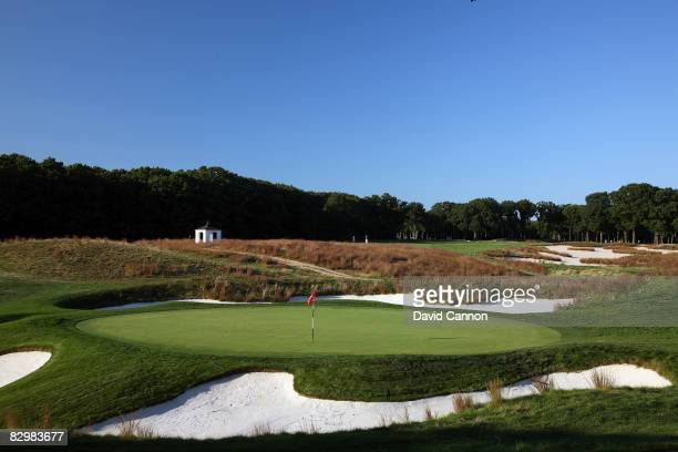 The green on the par 4 6th hole on the Black Course at Bethpage State Park venue for the 2009 US Open Championship on September 23 2008 in Bethpage...