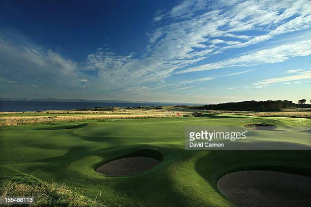 The green on the par 5 5th hole at The Honourable Company of Edinburgh Golfers at Muirfield on August 31 in Gullane Lothian Scotland