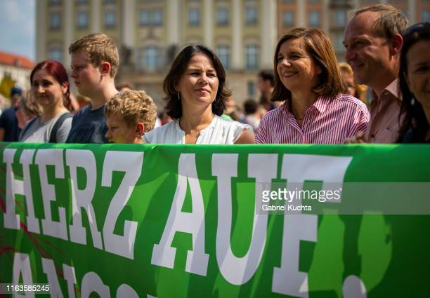 The Green party coleader Annalena Baerbock participate in the Unteilbar march against racism exclusion and exploitation and for an open society on...