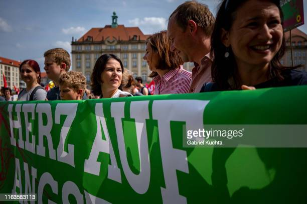 The Green party coleader Annalena Baerbock participates in the Unteilbar march against racism exclusion and exploitation and for an open society on...