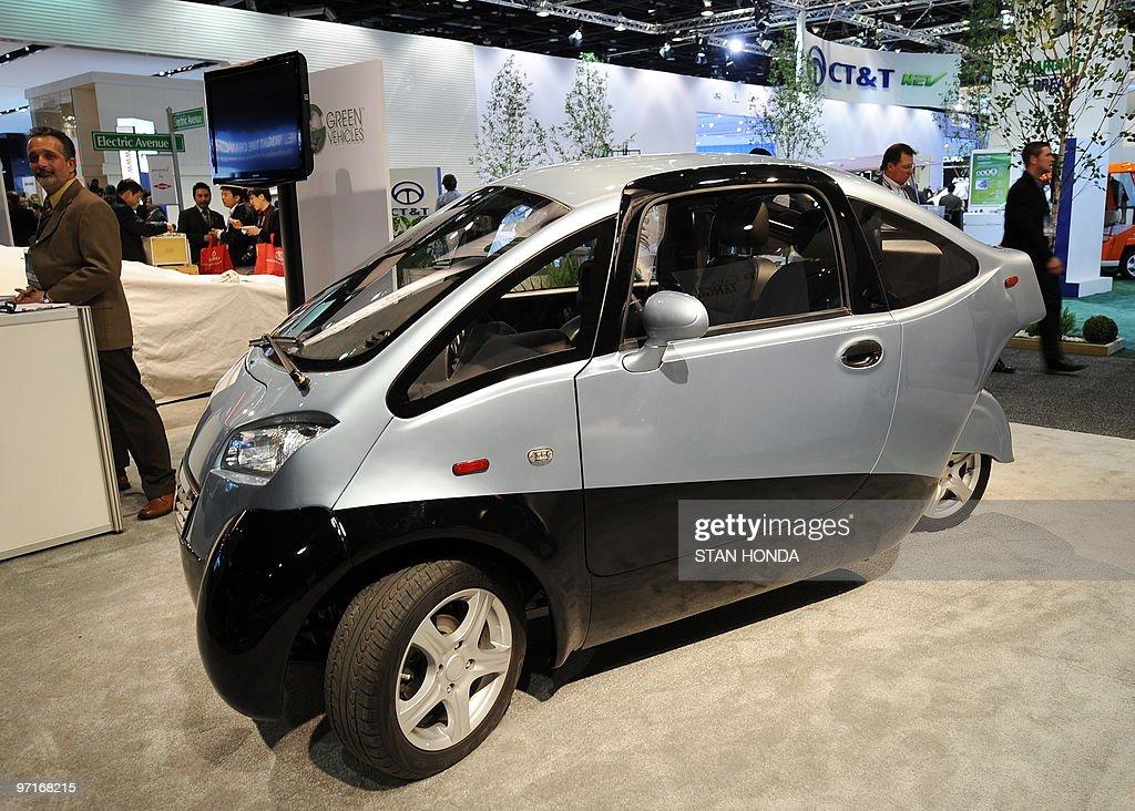 The Green Vehicles Triac Electric Car On News Photo