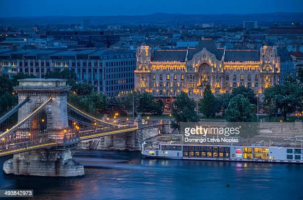 The Gresham Palace at sunset, Budapest
