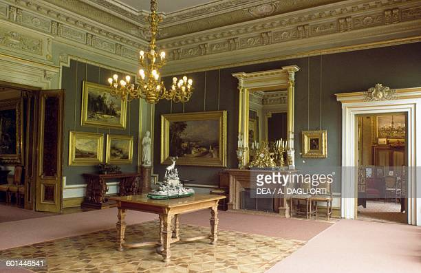 The Grey Hall Kaiservilla summer residence of Emperor Franz Joseph I and Empress Elisabeth of Austria known as Sisi Bad Ischl Upper Austria Austria...