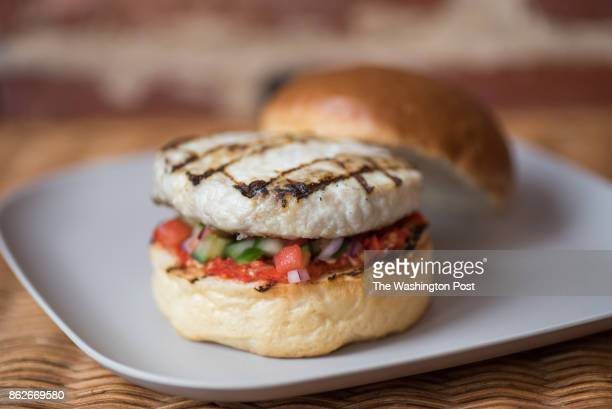 October 12: The grey trigger fish burger at FishScale in Washington, DC on October 12, 2017.
