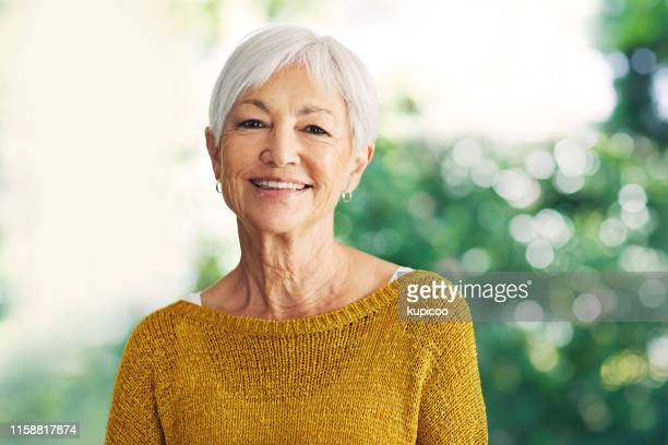 the grey years are the good years - white hair stock pictures, royalty-free photos & images