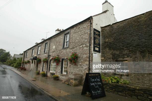 The Greyhound Hotel in Shap Cumbria where Cherie and son Leo had lunch Prime Minister's wife Cherie Blair visited a village pub yesterday while her...