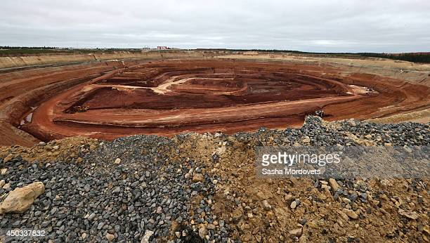 The Grib deposit diamond mine also known as Verkhotina that is owned by Lukoil is seen June 9 2014 in Mezen district 130 km northeast of Arkhangelsk...