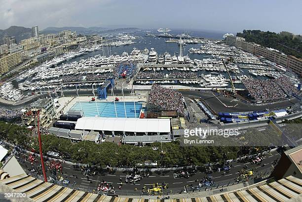 The grid line at the start of the Formula One Monaco Grand Prix on June 1, 2003 in Monte Carlo, Monaco.