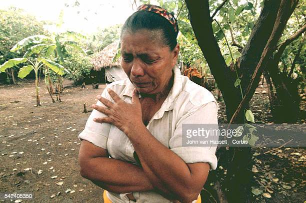The grief of a woman who lost her loved ones in the mudslide on the Casitas volcano