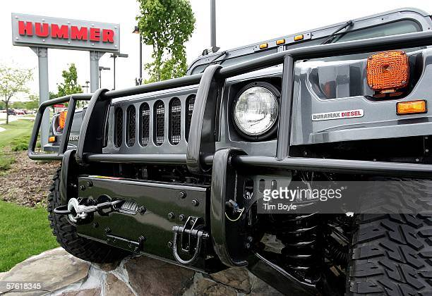 The grill area of a new Hummer H1 is shown at Woodfield Hummer May 15 2006 in Schaumburg Illinois According to reports General Motors is ending the...