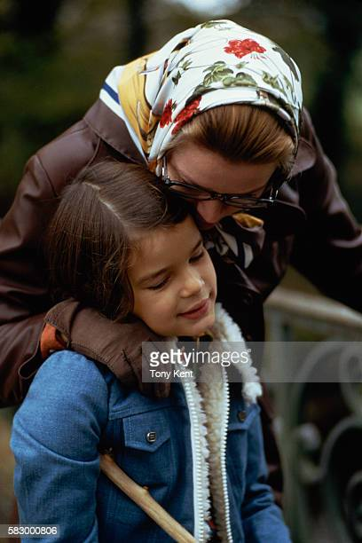 The Grimaldi royal family takes a walk in the countryside Princess Grace and her daughter Princess Stephanie