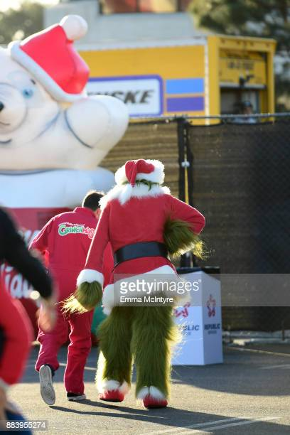 The Grinch attends the 1027 KIIS FM's Jingle Ball Village at KIIS FM's Jingle Ball 2017 presented by Capital One preshow at The Forum on December 1...