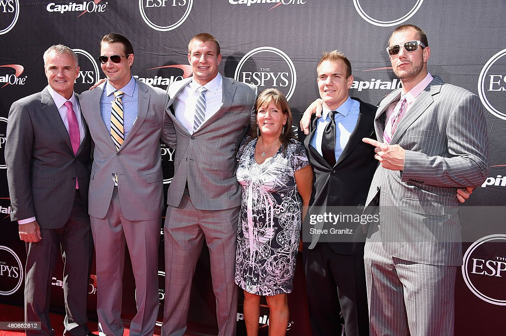 The Gronkowski family attends The 2015 ESPYS at Microsoft Theater on July 15, 2015 in Los Angeles, California.