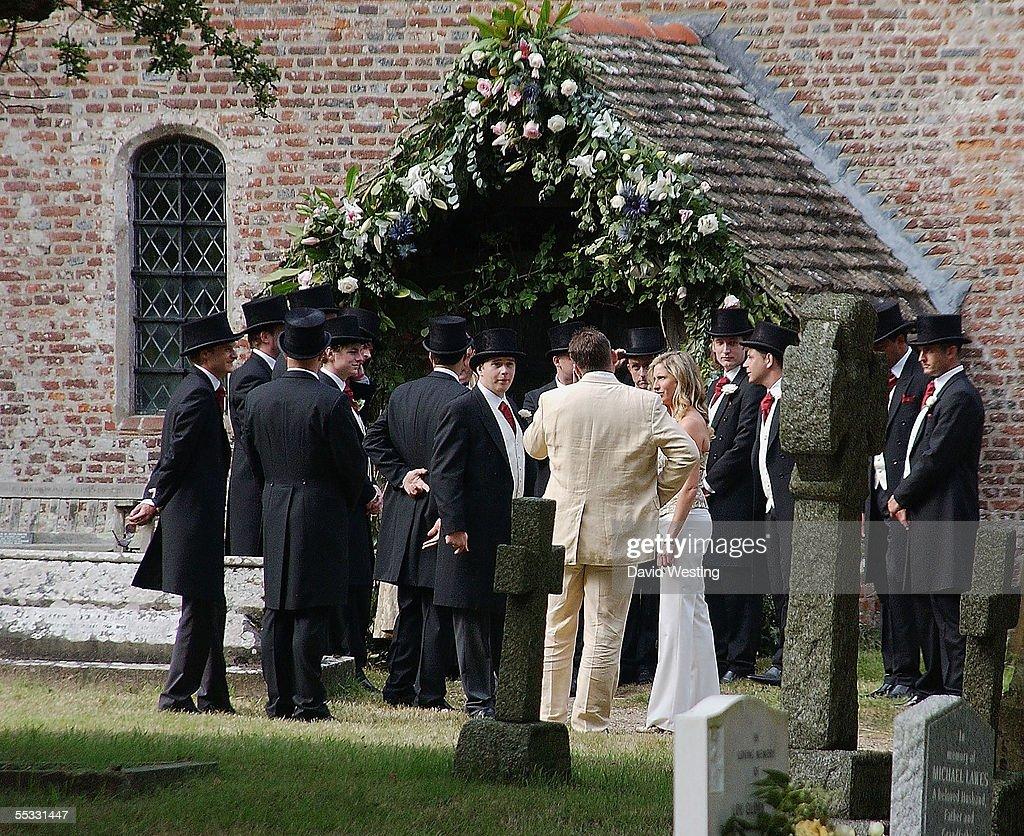 Jodie Kidd & Aidan Butler - Wedding : News Photo