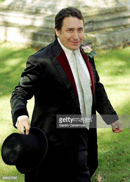 The groom Jools Holland arrives at St James's Church on August 30 2005 in Cooling England The Archbishop Of Canterbury Dr Rowan Williams granted...