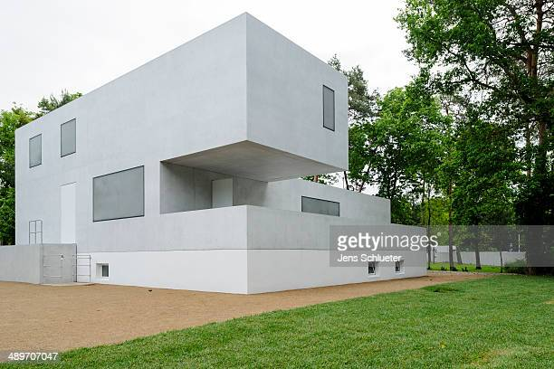 The Gropius house one of the seven Meisterhaeuser or Master Houses of the Bauhaus is seen at the end of rebuilding on May 9 2014 in DessauRosslau...