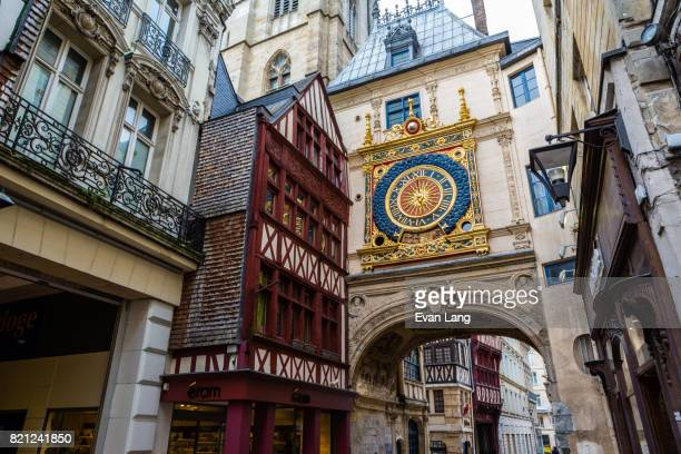 the gros horloge - rouen, france - rouen stock pictures, royalty-free photos & images