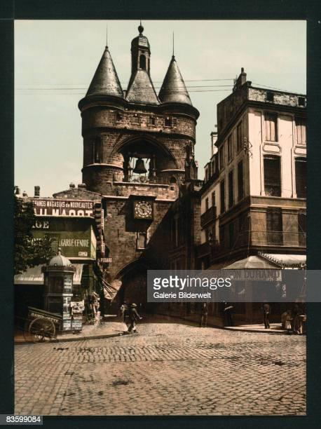 The Grosse Cloche in Bordeaux France atop the 13th century Porte SaintEloi circa 1900