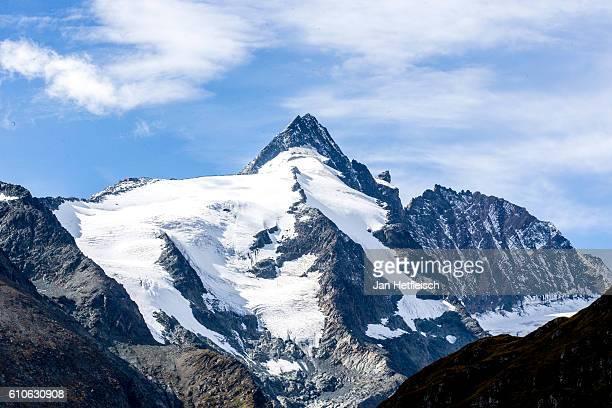 The Grossglockner summit near the Grossglockner high alpine road on September 23 near Zell am See Austria The Grossglockner high alpine road is the...