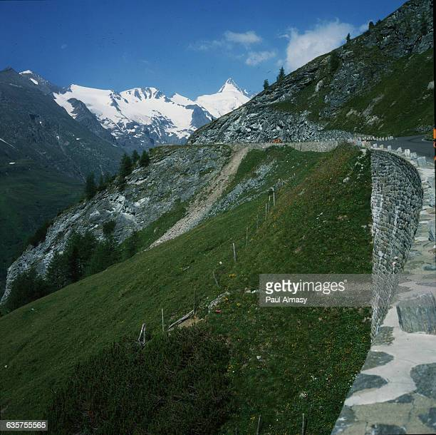 The Grossglocknerstrasse Alpine road the highest mountain route in Austria situated in the Hohe Tauern range in the Eastern Tyrol