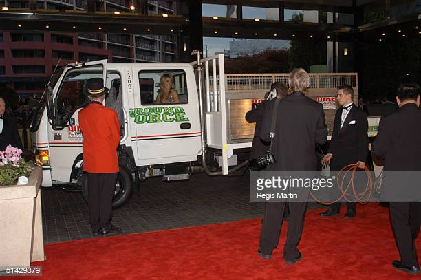 The Ground Force Team arriving on the red carpet for the 45th annual TV Week Logie Awards 2003 held at the Crown Casino Melbourne Australia