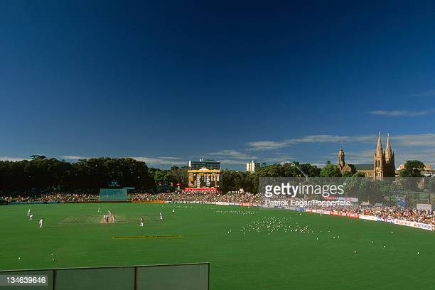 The ground general view A polarising filter was used in the taking of the original photograph Australia v England 4th Test Adelaide January 199495