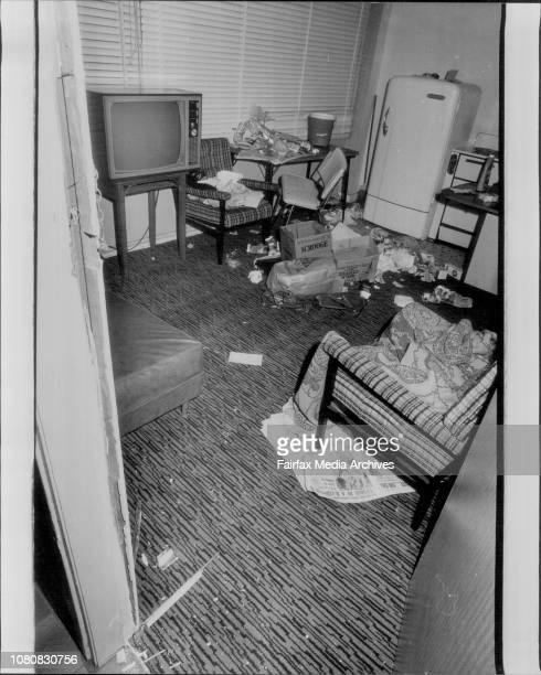 The groundfloor flat in Victoria Square Ashfield where prison escapers William Munnery Wayne Coleman and Robert Berry were recaptured at gunpoint...