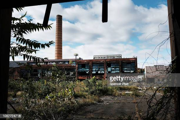 The grounds of a shuttered factory connected to the brass industry stands in what was once a vibrant manufacturing city on October 21 2018 in...