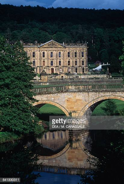 The grounds of Chatsworth house castle Bakewell England United Kingdom
