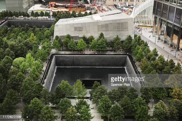 The grounds of the September 11 Memorial and Museum stand in lower Manhattan on September 05 2019 in New York City New York City is preparing to...