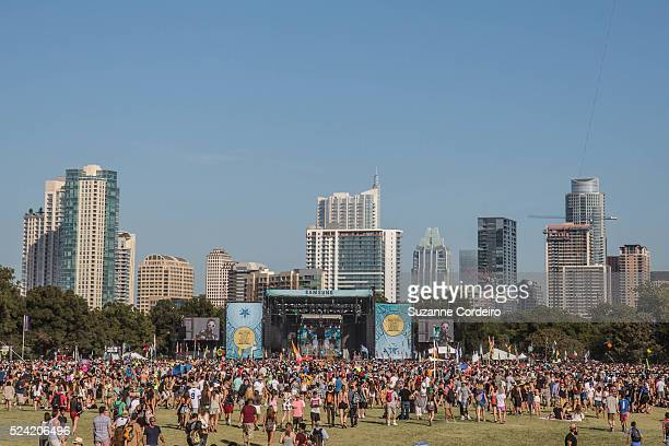 The grounds of Zilker Park getting more crowded as the evening draws near at ACL Music Festival on Saturday October 3 2015