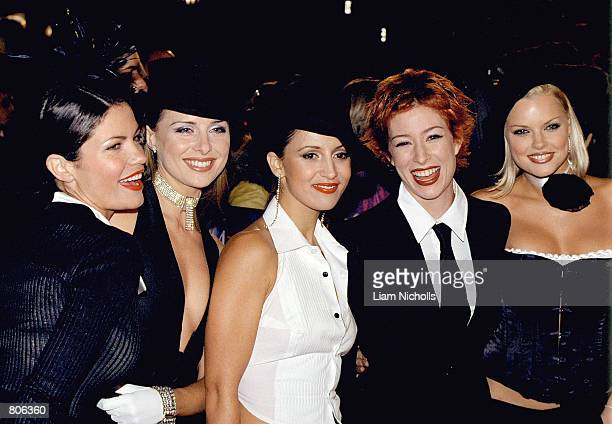 The group Bardot Tiffani Wood Belinda Chapple Sally Polihronas Katie Underwood and Sophie Monk attend the TV Week Logie Awards April 22 2001 at the...