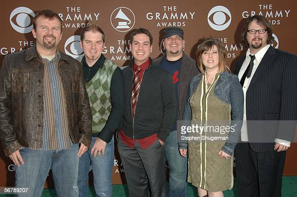 The group Casting Crowns arrives at the 48th Annual Grammy Awards at the Staples Center on February 8 2006 in Los Angeles California