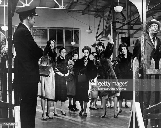 'The Group' consisting of Jessica Walter Shirley Knight MaryRobin Redd Joanna Pettet Elizabeth Hartman Joan Hackett and Kathleen Widdoes greets...