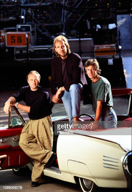 The Group Genesis Mike Rutherford Phil Collins and Tony Banks In A Concert June 20 1992 in Oaklandu2013Alameda County Coliseum Oakland California
