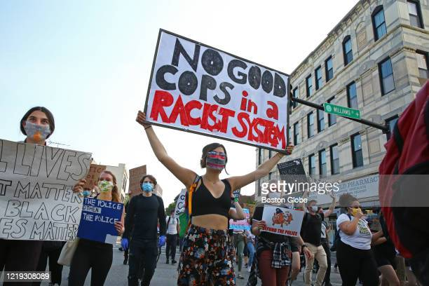 The group heads out of Nubian Square toward City Hall during the march on June 10 2020 in Boston The FTP youth protesters gather in Nubian Square for...