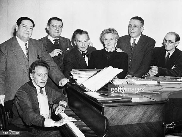 The group of French composers who banded together in 1916 to form Les Six With Jean Cocteau as their spokesman they were Darius Milhaud Georges Auric...