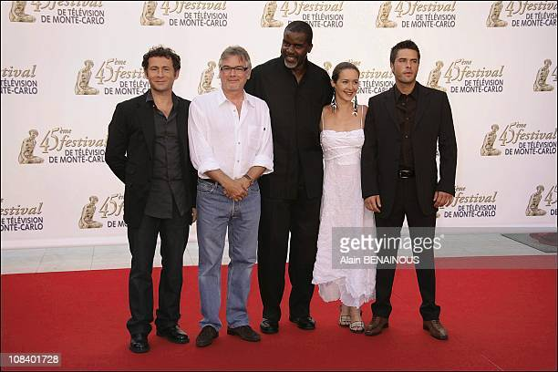 The group of 'Navaro' Daniel Rialet Christian Rauth Jacques Martial Emmanuelle Boidron and Anthony Dupray in Monaco on June 30 2005