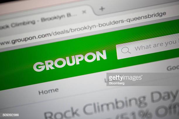 The Groupon Inc website is displayed on a computer monitor in an arranged photograph taken in New York US on Tuesday Feb 9 2016 Groupon is scheduled...