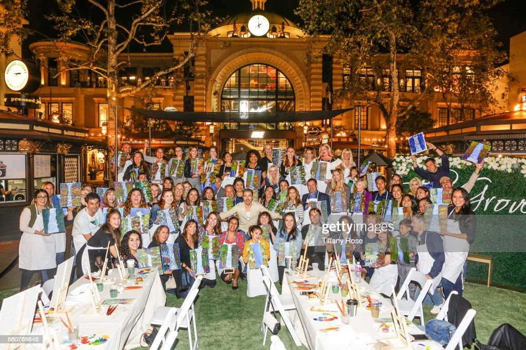 The Grove hosts Paint & Sip & Help event with Derek Hough & Mother Marriann Nelson to Benefit Children's Hospital Los Angeleson October 12, 2017 in Los Angeles, California.