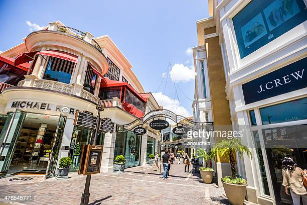 the grove shopping mall - los angeles - the grove los angeles stock pictures, royalty-free photos & images
