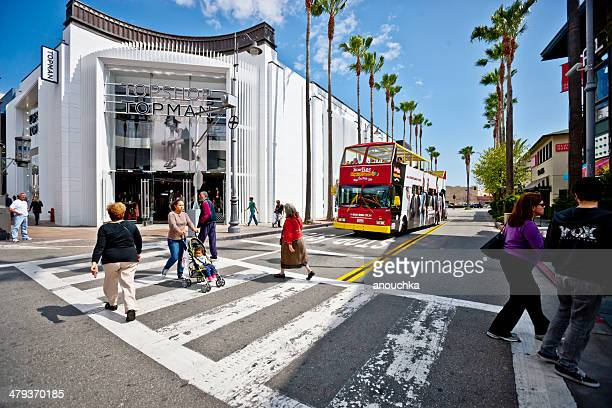 the grove shopping mall, los angeles - the grove los angeles stock pictures, royalty-free photos & images